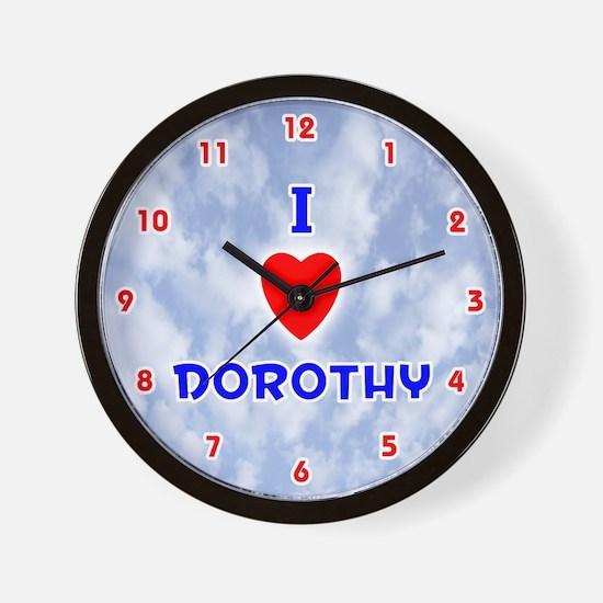 I Love Dorothy (Red/Bl) Valentine Wall Clock