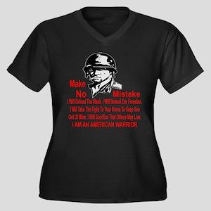 I Am An Amer Women's Plus Size V-Neck Dark T-Shirt