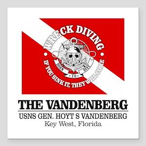 """Vandenberg Square Car Magnet 3"""" x 3"""""""