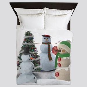 SnowPals Merry Christmas Queen Duvet