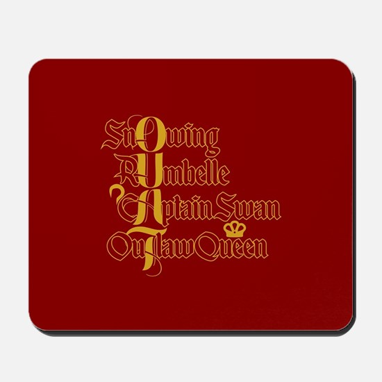 OUAT Power Couples Mousepad