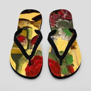 Wine & Roses Flip Flops