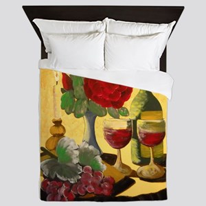 Wine & Roses Queen Duvet