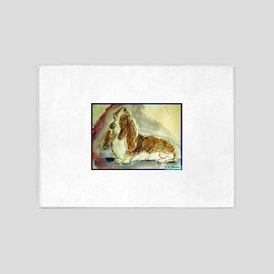 Basset Hound, dog, art! 5'x7'Area Rug