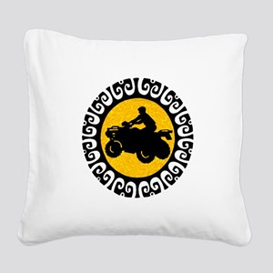 ATV Square Canvas Pillow