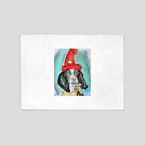 Party Animal, Fun dog, 5'x7'Area Rug