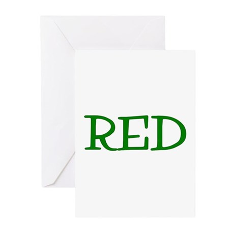 Red (Green) Greeting Cards (Pk of 10)