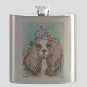 Princess, cute, dog, art! Flask