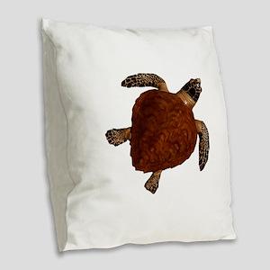 TURTLE Burlap Throw Pillow