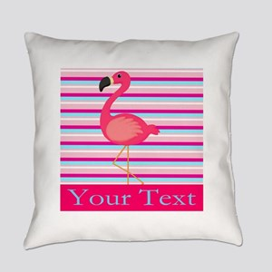 Personalizable Pink Flamingo Stripes Everyday Pill