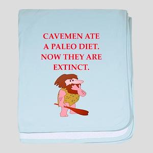 caveman baby blanket