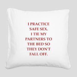 safe sex Square Canvas Pillow