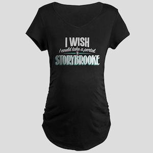 OUAT Portal to Storybrooke Maternity Dark T-Shirt