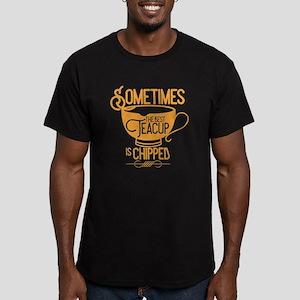 OUAT Teacup Men's Fitted T-Shirt (dark)