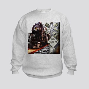 Flawn Ocho Train Collage Sweatshirt