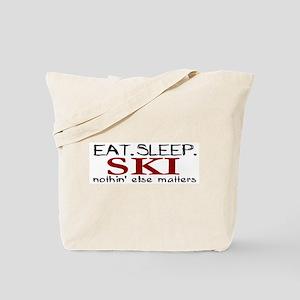 Eat Sleep Ski Tote Bag