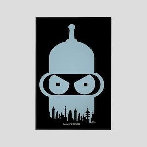 Futurama Bender City Rectangle Magnet