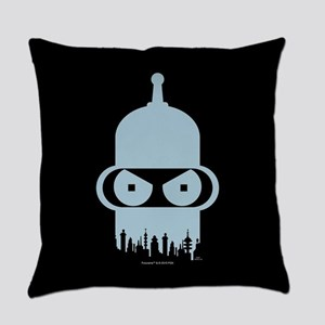 Futurama Bender City Everyday Pillow