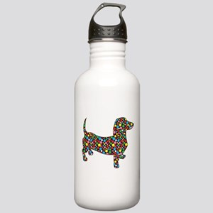 Polka Dot Dachshunds Water Bottle