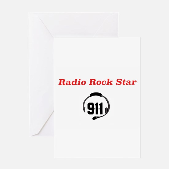 Radio Rock Star Greeting Cards