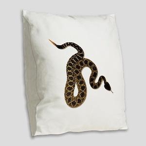 SLITHER Burlap Throw Pillow