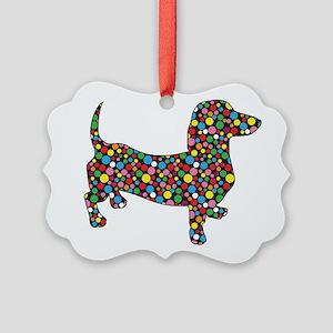 Polka Dot Dachshunds Ornament