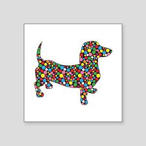 Polka Dot Dachshunds Sticker
