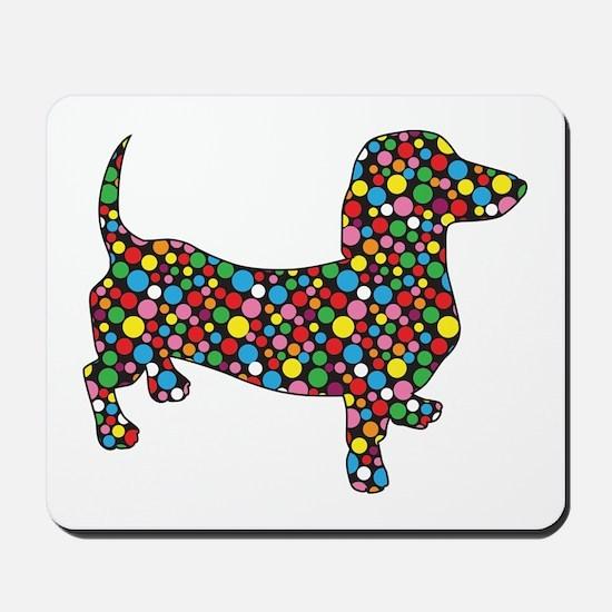 Polka Dot Dachshunds Mousepad