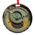 Prague Astronomical Clock Round Ornament