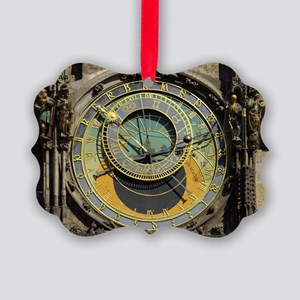 Prague Astronomical Clock Picture Ornament