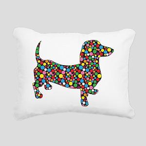Polka Dot Dachshunds Rectangular Canvas Pillow
