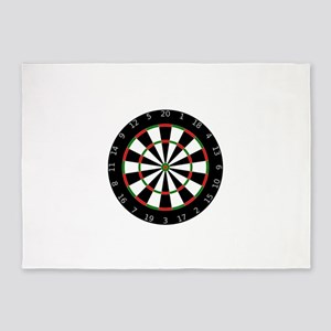 Dartboard 5'x7'Area Rug