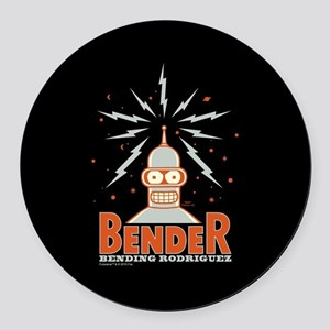 Futurama Bender Rodriguez Round Car Magnet