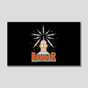 Futurama Bender Rodriguez Car Magnet 20 x 12