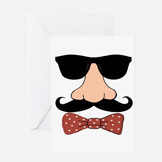 Nose Red Bowtie Greeting Cards