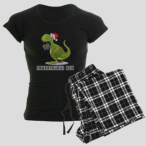 Santasaurus Rex Women's Dark Pajamas
