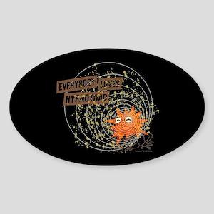 Futurama Hypotoad Sticker (Oval)