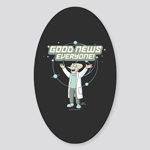 Futurama Good News Sticker (Oval)