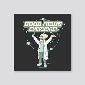 "Futurama Good News Square Sticker 3"" x 3"""