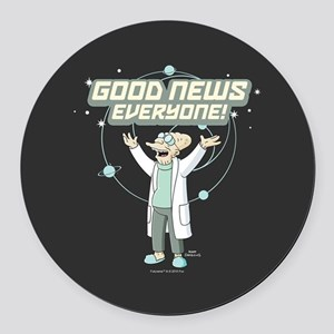 Futurama Good News Round Car Magnet