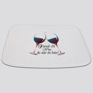Friends and Wine the older the better Bathmat