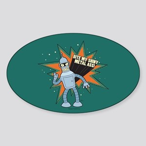 Futurama Bender Shiny Sticker (Oval)
