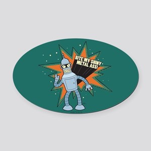 Futurama Bender Shiny Oval Car Magnet