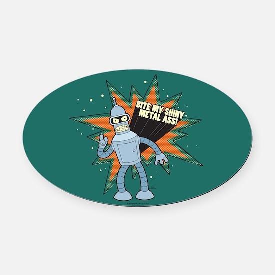 Futurama Bender Shiny Oval Car Magnet
