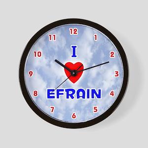 I Love Efrain (Red/Bl) Valentine Wall Clock