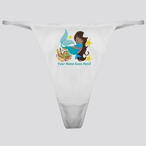 Brunette Mermaid Dolphin Classic Thong