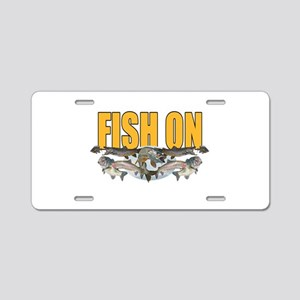 Fish on all 1 Aluminum License Plate