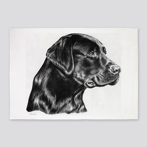 Black Lab 5'x7'Area Rug