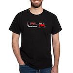 I Love Red Tractors Dark T-Shirt