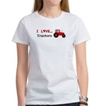 I Love Red Tractors Women's T-Shirt